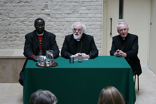 Archbishop Daniel Deng, Archbishop Rowan Williams and Bishop David Stancliffe
