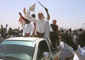 At the dedication of St Matthew Cathedral, Diocese of Renk, Sudan, February 2006
