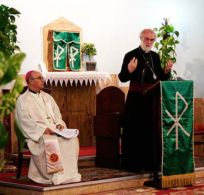 The Archbishop with Bishop Sylvester Magro OFM