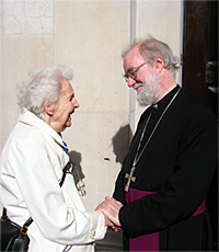 The Archbishop with Dick Sheppard's daughter, Rosemary Pearse