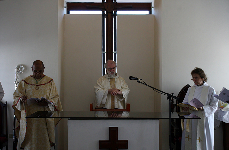 The Archbishop at the Church of St John, Jamaica