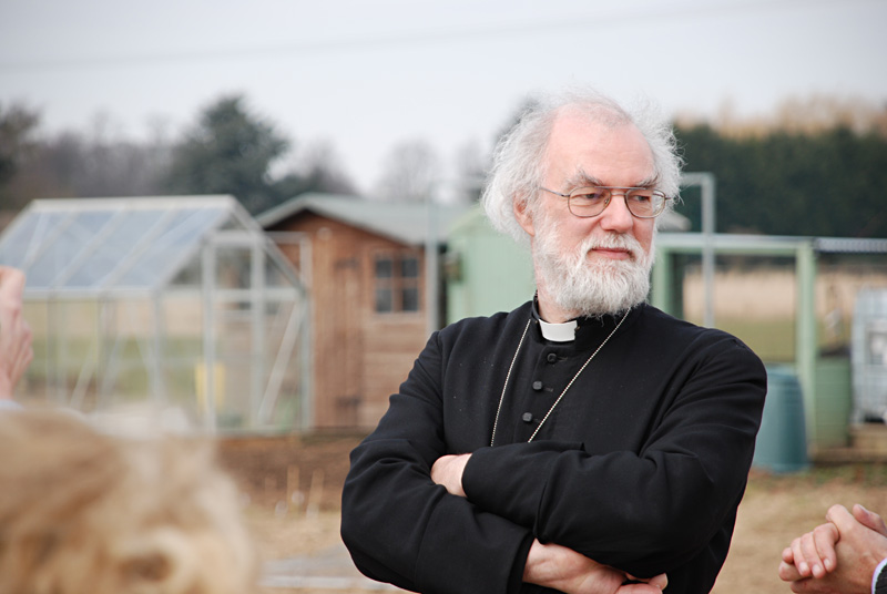 Archbishop at an eco friendly housing development in Long Sutton © Lincoln Diocese