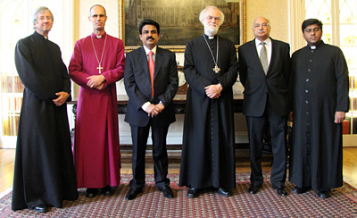 Canon Guy Wilkinson, Bishop Richard Cheetham, Mr Shahbaz Bhatti, Dr Rowan Williams, Mr Wajid Shamsul Hasan, Revd Rana Youab Khan