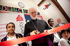 Archbishop at the IntoUniversity opening