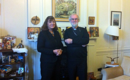 Bridget Kendall and Archbishop Rowan