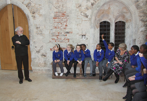 Bonneville School students in conversation with Archbishop Rowan
