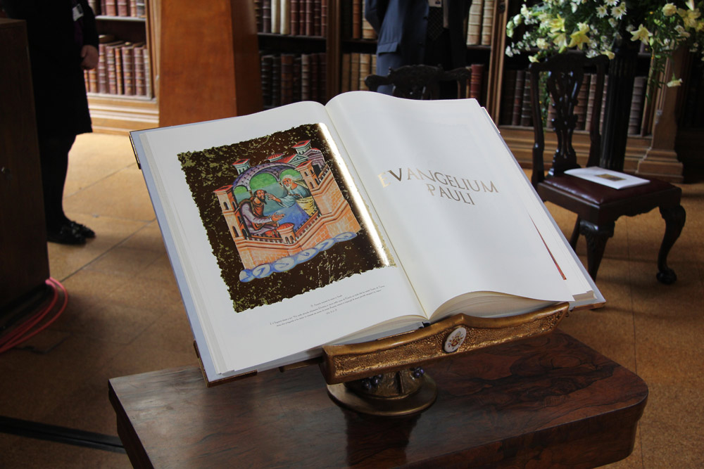 Gift from Pope Benedict XVI to Archbishop Rowan Williams - a copy of the Codex Pauli, produced to celebrate the bi-millennium of the birth of St Paul