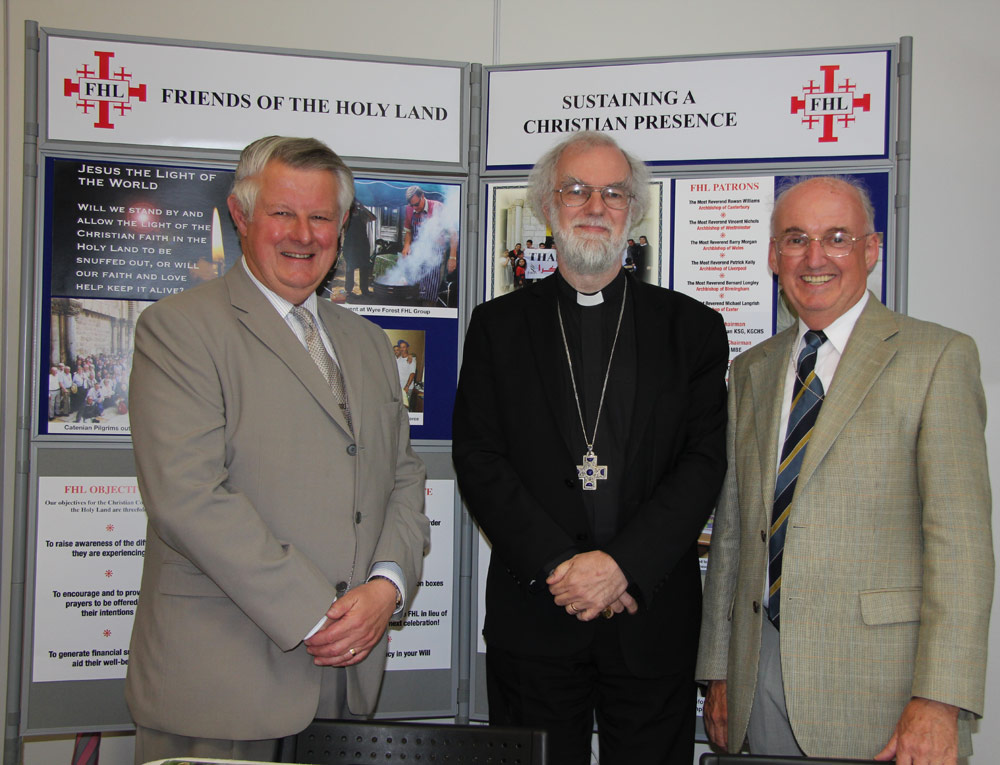 Archbishop at the Friends of the Holy Land stand, General Synod