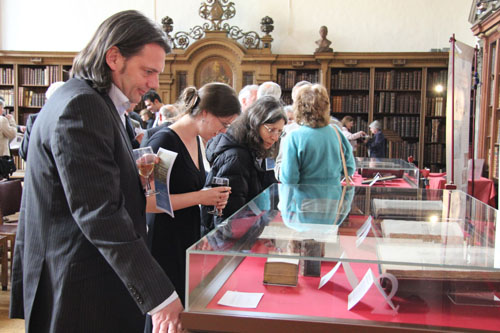 Visitors at the Lambeth Palace Library exhibition