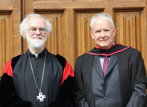 Archbishop with the Revd Simon Jones