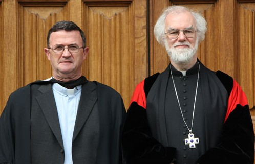 Archbishop with the Revd Alan Pierce