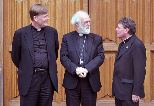 The Revd Jonathan Baker as Bishop of Ebbsfleet, the Archbishop of Canterbury, and the Revd Norman Banks as the Bishop of Richborough.