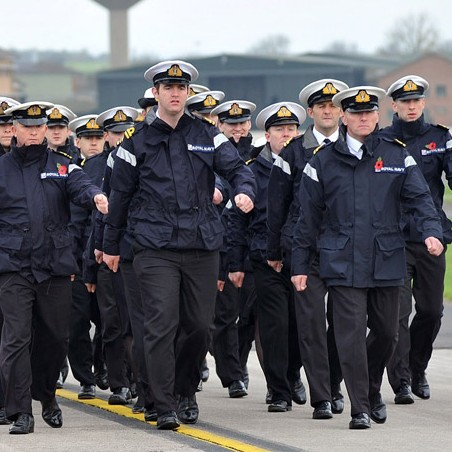 Service personnel from RNAS Yeovilton