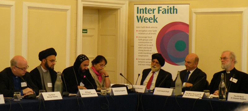 The launch of Inter Faith Week 2011