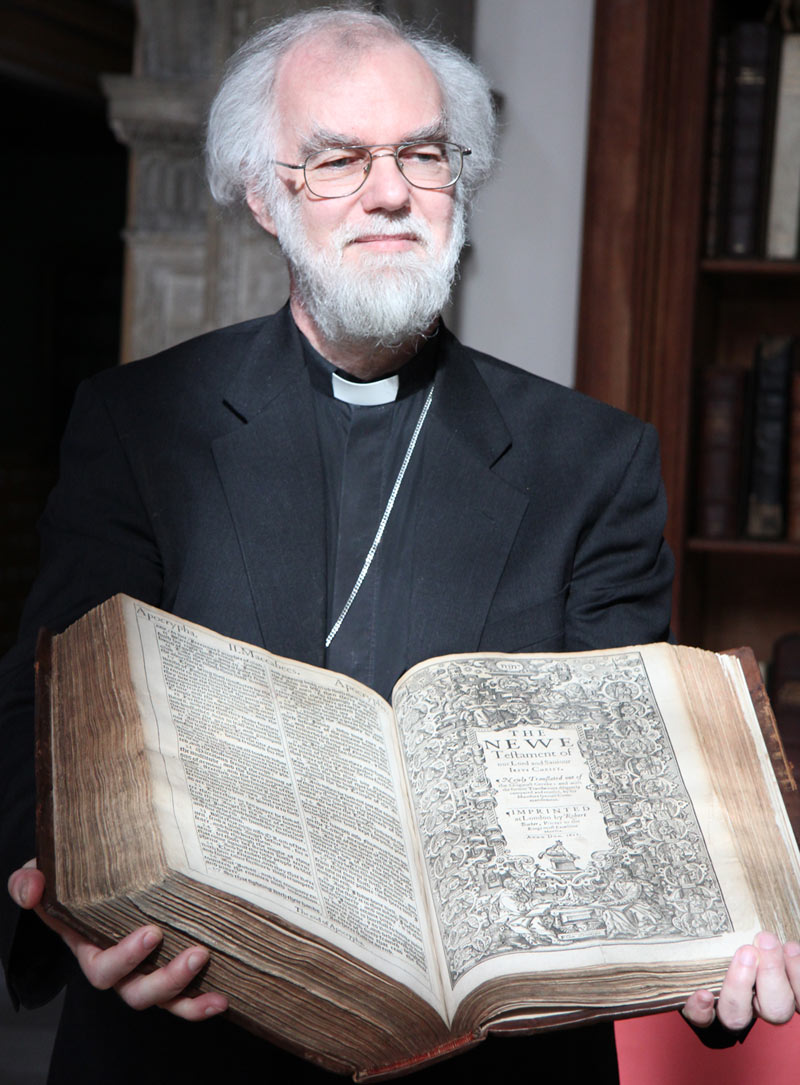 Archbishop Rowan with King James Bible