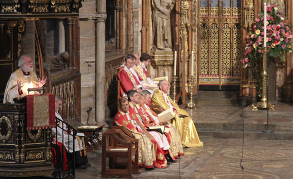 Service at Westminster Abbey for 400th anniversary of King James Bible