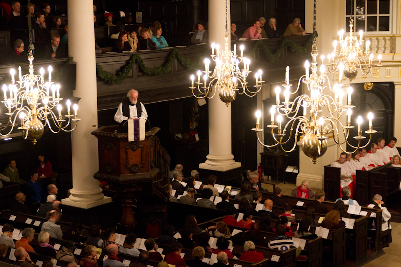 The Archbishop preaching at St Martin-in-the-Fields