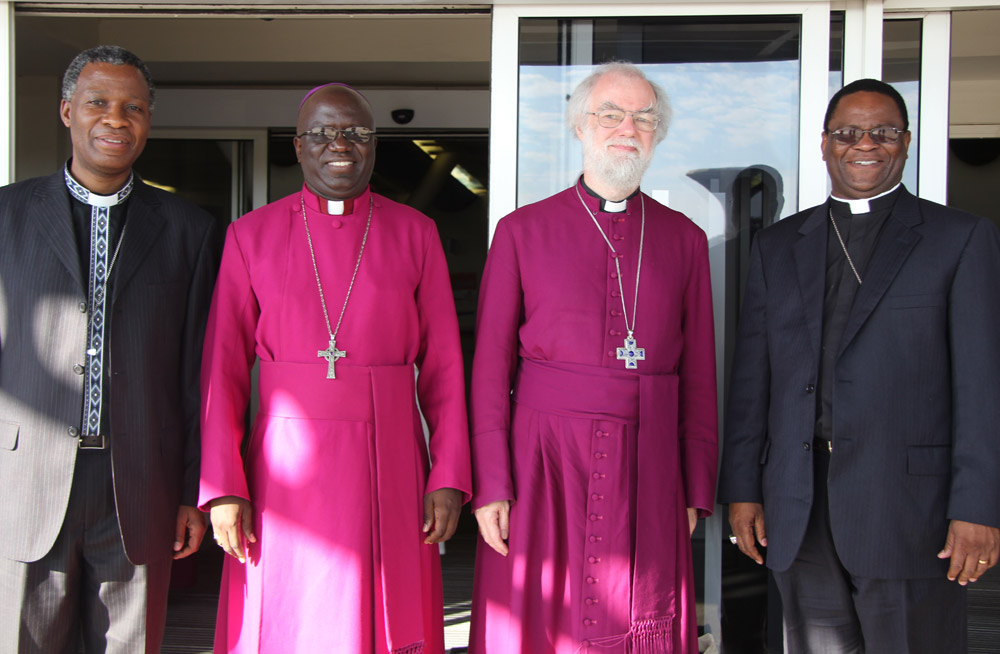 Archbishop Thabo Makgoba (Primate of the Anglican Church of Southern Africa), Archbishop Albert Chama (Primate of the Province of Central Africa), Archbishop Rowan Williams (Archbishop of Canterbury), Archbishop Valentino Mokiwa (Archbishop of Tanzania)