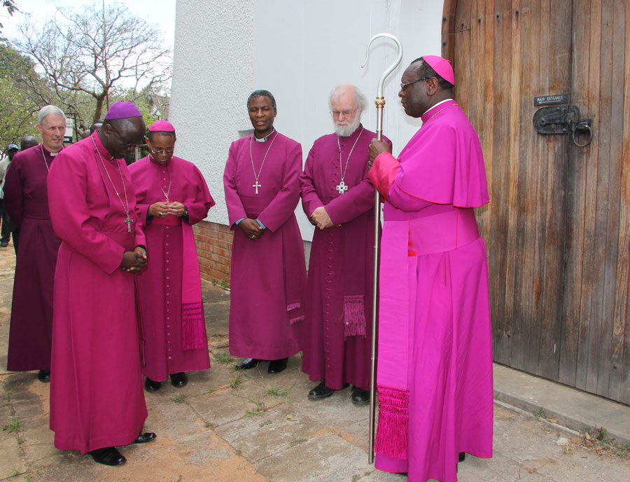 Circle of prayer at Cathedral in Mutare