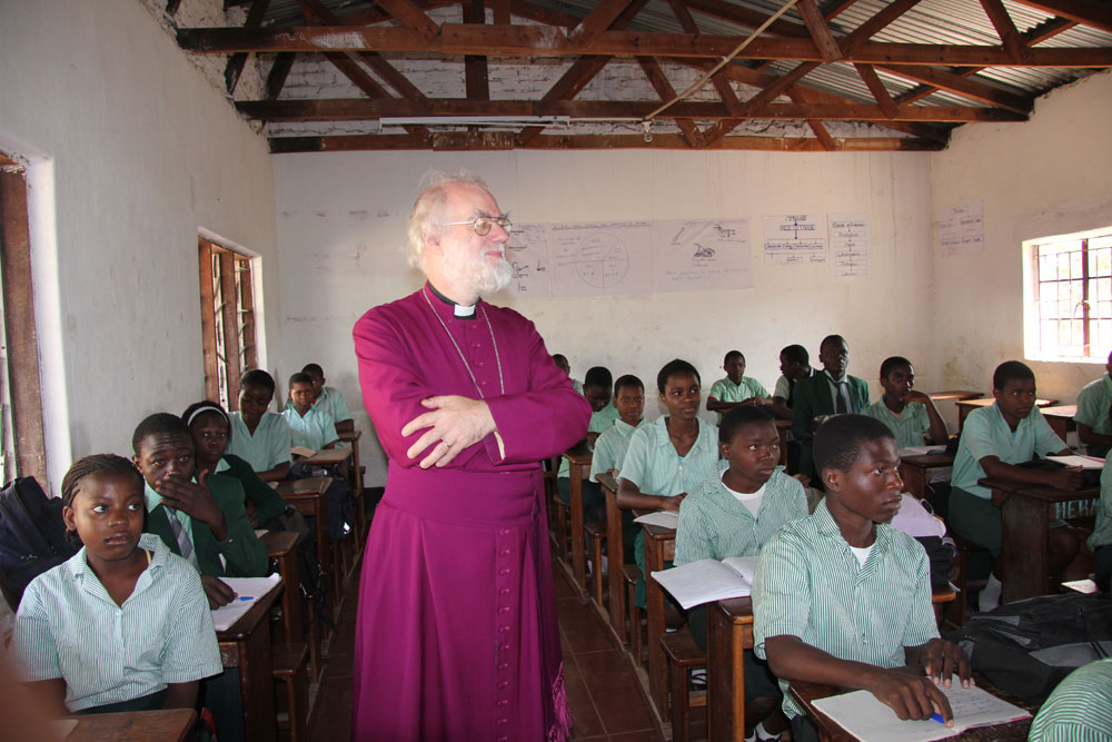 English class at Trinity Secondary School, Malawi