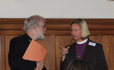 Archbishop with Bishop Mary Gray-Reeves