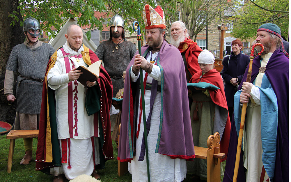 Archbishop witnesses a dramatic re-enactment