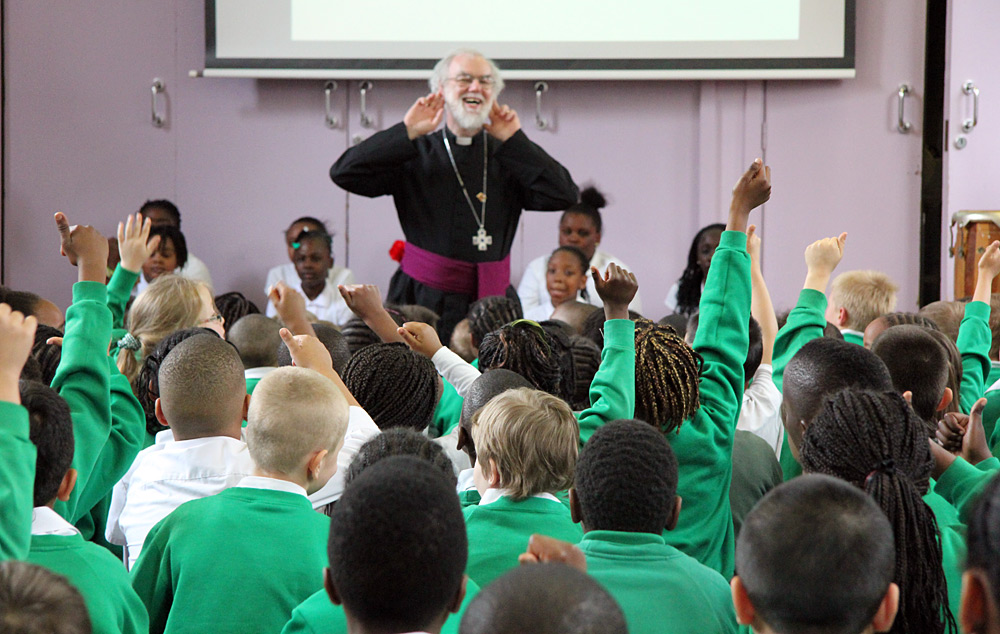 Archbishop at St Alfege and St Peter's Primary School