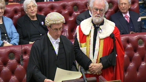 Introduction to the House of Lords of Rowan, Lord Williams of Oystermouth. Photo: PA Wire