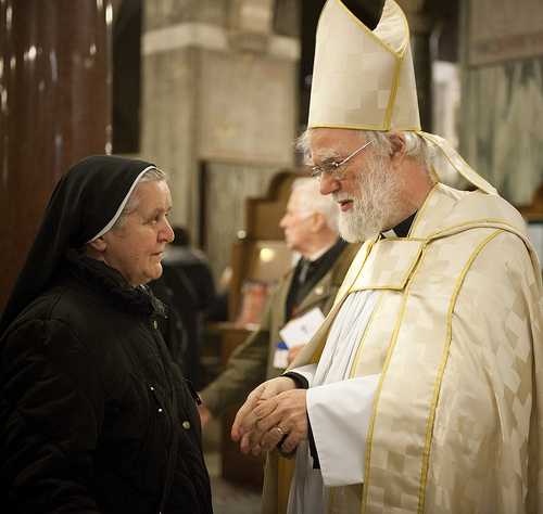 Archbishop Rowan Williams at Westminster Cathedral. Photo: Marcin Mazur/CCN