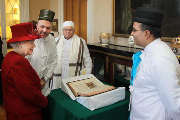 Zoroastrian guests and their sacred object - Shahnameh (Book of Kings)