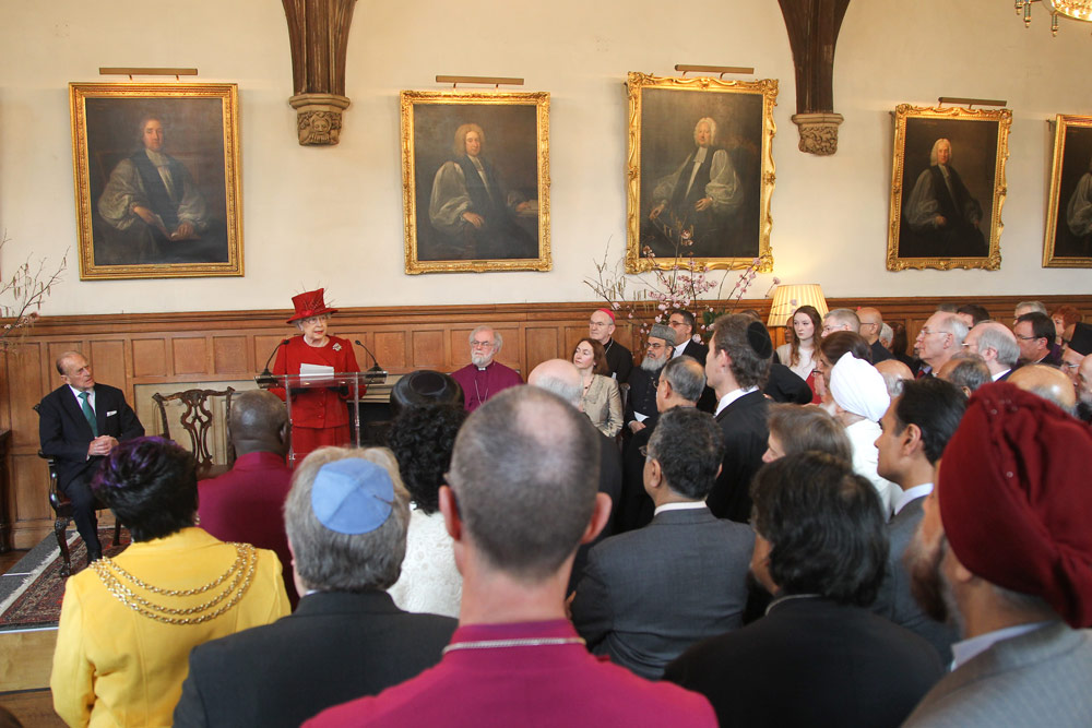 HM the Queen speaking at Lambeth Palace