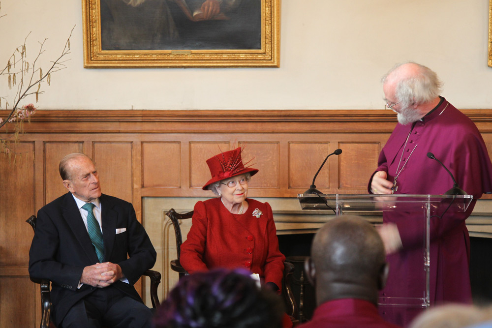 Archbishop Rowan addressing HM the Queen at Lambeth Palace