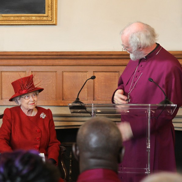 HM the Queen and the Archbishop at Lambeth Palace