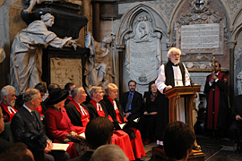 In his address, Dr Rowan Williams praised Dickens' ability to get to the heart of the human condition