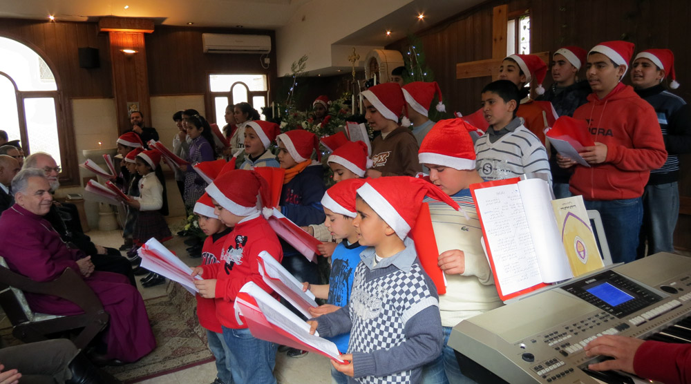 Children singing at Zababde, West Bank. Photo courtesy of the Diocese of Jerusalem