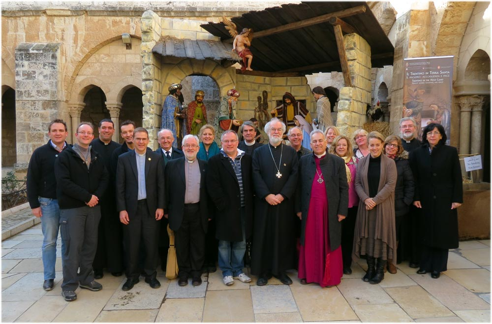 Archbishop's pilgrimage to the Holy Land, Jan 2012. Photo courtesy of the Diocese of Jerusalem.