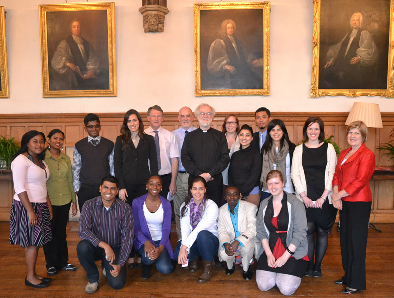 Young Peacebuilders with Archbishop Rowan at Lambeth Palace