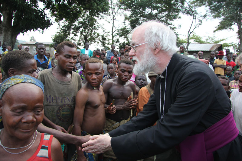 Archbishop meets with indigenous people displaced by the conflict in Eastern Congo
