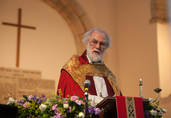 Archbishop preaching at Deerhurst.  Photo: Neil Edbrooke Photography