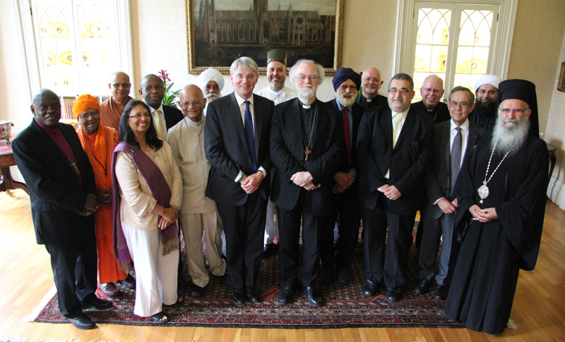 Andrew Mitchell, Archbishop Rowan and senior faith leaders