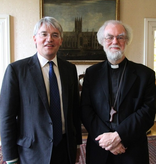 Andrew Mitchell and Archbishop Rowan