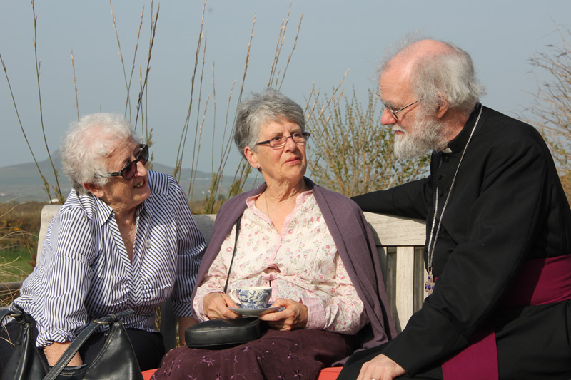 Archbishop with Revd Eileen Bairstowe and Revd Marion Fontaine from Shalom House