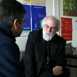 Archbishop at Shelter Advice Centre