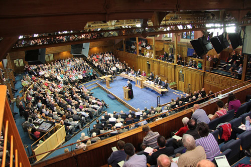 Archbishop Rowan speaking at the Church of Scotland General Assembly
