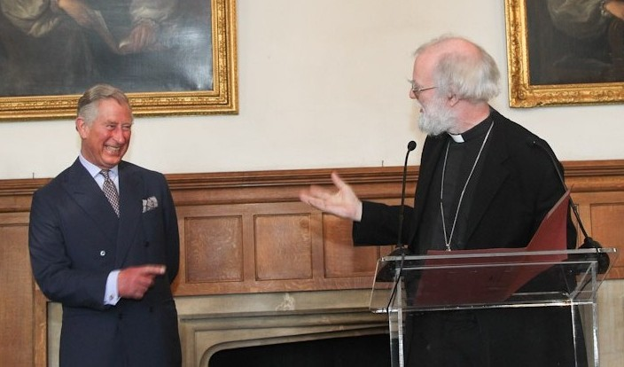 Prince Charles and Archbishop Rowan at Lambeth Palace