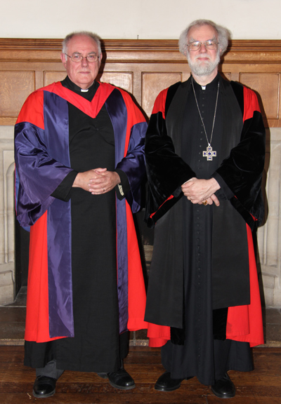 Revd Canon Les Oglesby with Archbishop Rowan