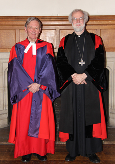 Revd Canon Bob Reiss with Archbishop Rowan