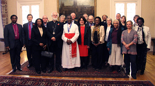 The Reverend Canon Dr Gideon Byamugisha with group