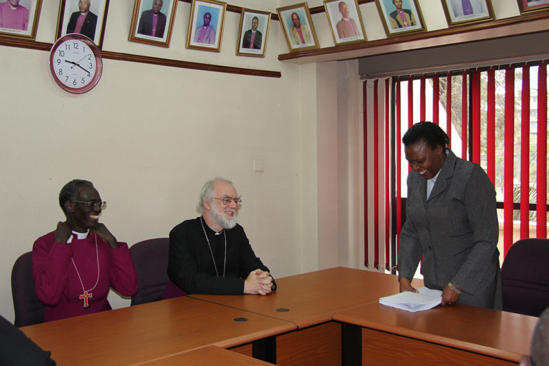 The Archbishop of Kenya, Archbishop of Canterbury, and Canon Rosemary Mbogo