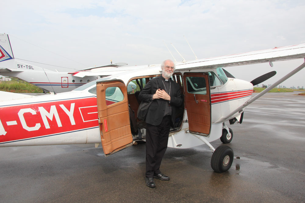 Dr Williams with the MAF Cessna